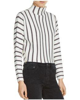 Matina Striped Mock Neck Sweater
