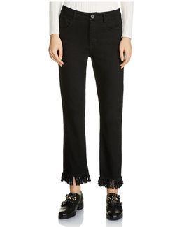 Panako Cropped Fringed-hem Jeans