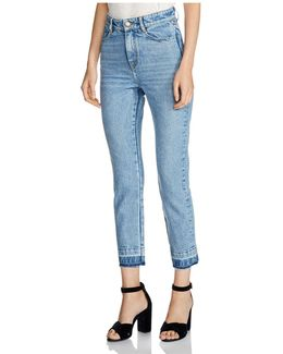 Parazar Released-hem Cropped Jeans