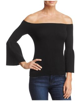 Innes Bell Sleeve Off-the-shoulder Top