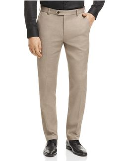 Houndstooth Slim Fit Chino Pants