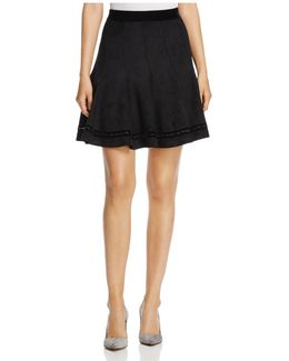 Carlisle Faux-suede Skirt