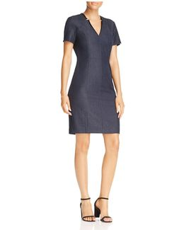 Pixie Notch-collar Dress