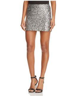 Supreme Metallic Knit Mini Skirt
