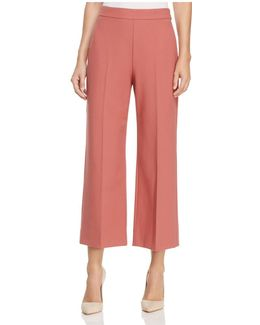 Crop Flat Front Trousers