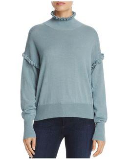 Ruffle Merino Wool Sweater