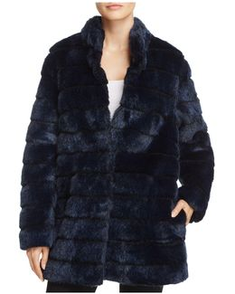 Chubby Faux Rabbit Fur Coat
