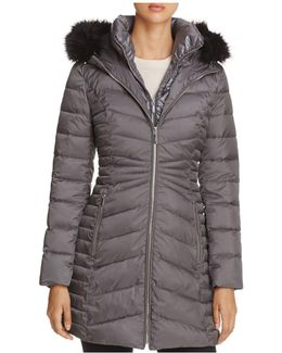 Mixed Quilt Puffer Jacket