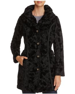 Reversible Faux Shearling & Puffer Coat