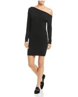 One-shoulder Cashmere Sweater Dress