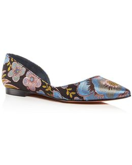 Women's Sunny Pointed Toe D'orsay Flats