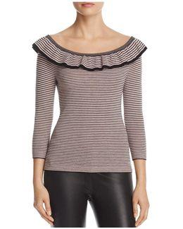 Ruffle Stripe Sweater