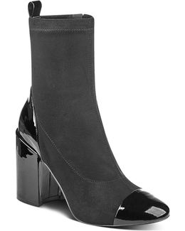 Tache Suede And Patent Leather Booties
