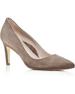 Women's Gabriela Suede Pointed Toe Pumps