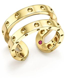 18k Yellow Gold Symphony Double Ring