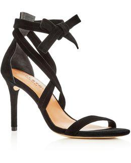 Women's Diana Suede Ankle Tie High Heel Sandals