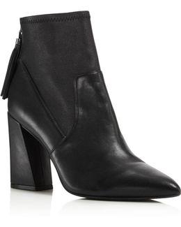 Gracelyn Leather High Heel Booties