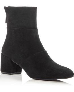 Kenenth Cole Women's Eryc Suede Block Heel Booties