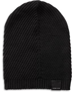 Contour Ribbed Knit Wool Beanie