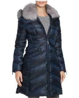 Cloe Fur Trim Down Coat