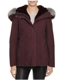 Maci Fox Fur Trim Parka