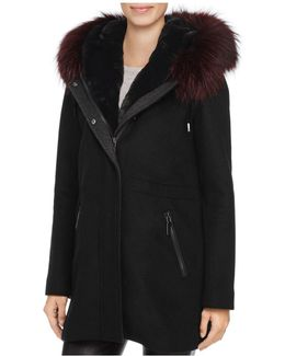 Tiffany Fur Trim Coat