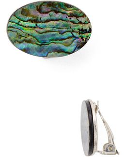 Clip-on Abalone Earrings