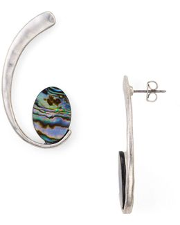 Abalone Curve Earrings