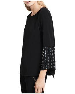 Studded-bell-sleeve Top
