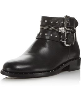 Chief Studded Leather Booties