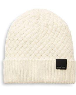 Basket Weave Wool Knit Beanie