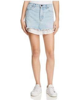 Shirttail Denim Skirt