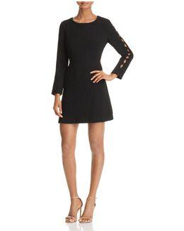 Cutout-sleeve Dress