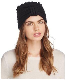Knit Cashmere Turban Hat