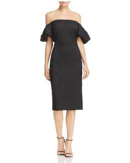 Jacquard Off-the-shoulder Dress