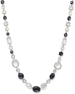 Hematite Doublet And Clear Quartz Necklace In Piazza