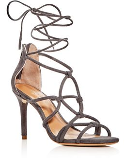 Brielle Caged Ankle Wrap High Heel Sandals