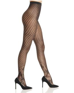 Kaia Diamond Net Tights