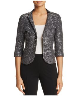 Visna Metallic Sequined Blazer
