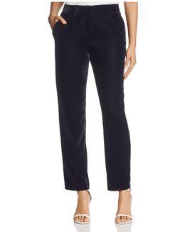 Alanis Crop Velvet Pants - 100% Bloomingdale's