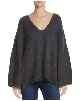 Urban Flossy Slouchy Flared-sleeve Sweater