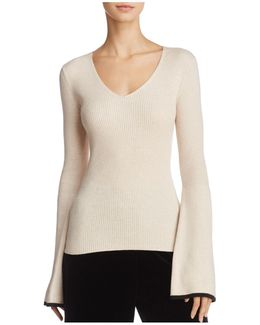 Virgie Bell-sleeve Sweater