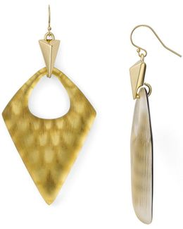 Pointed Pyramid Drop Earrings