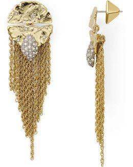 Rocky Medallion Post Earrings
