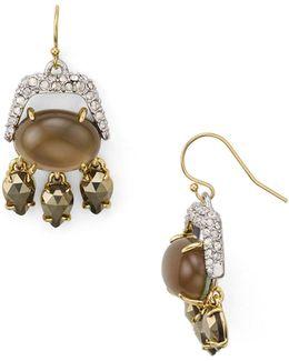 Multi-stone Chandelier Earrings
