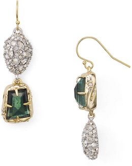 Stone And Pavé Earrings