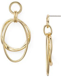 Nellie Double Hoop Drop Earrings