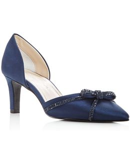 Women's Juniper Satin Embellished D'orsay Pumps
