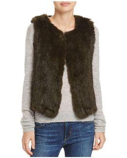 Rabbit Fur Cropped Vest