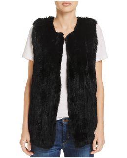 Rabbit Fur Long Vest